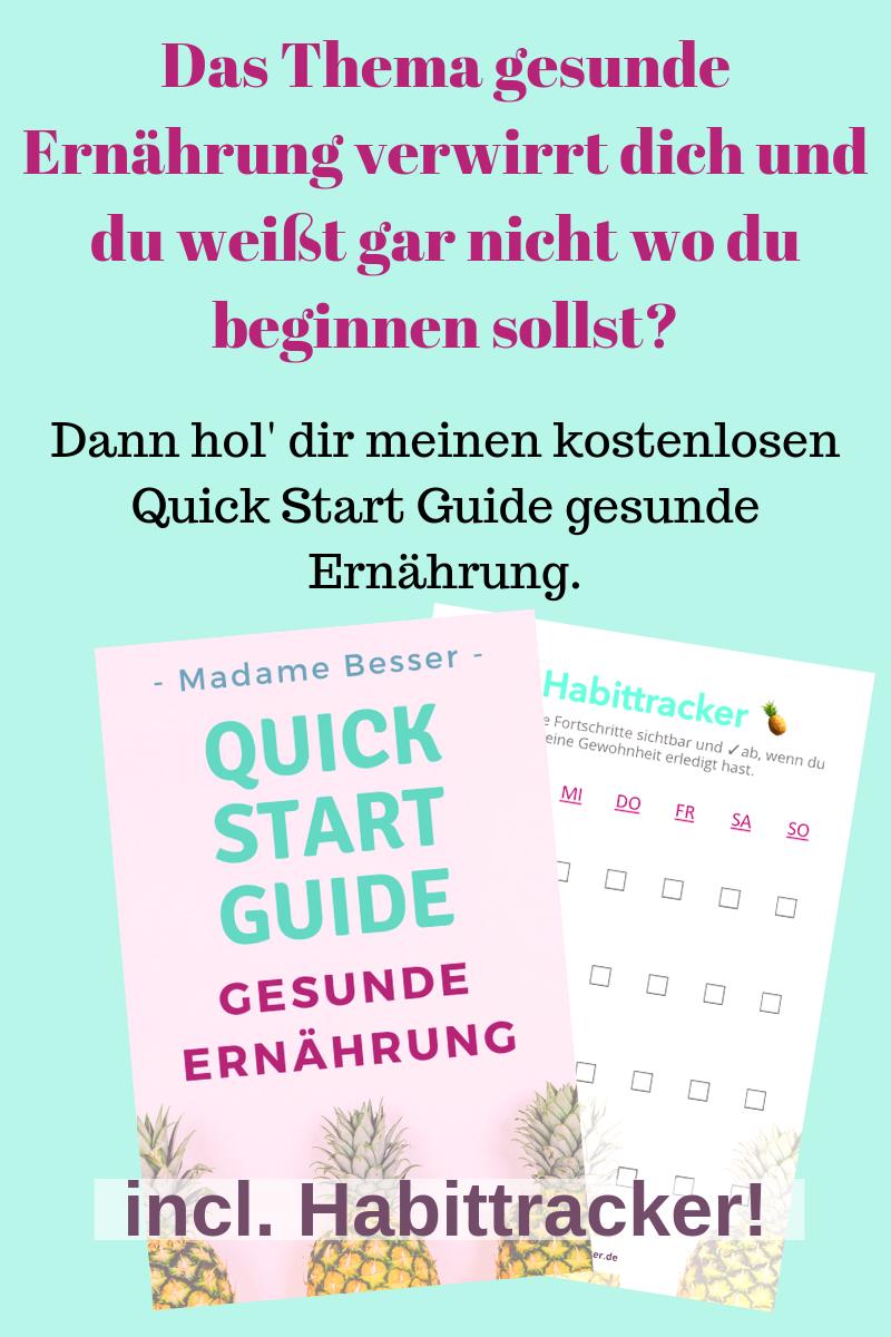 kostenloser Quick Start Guide gesunde Ernährung downloaden